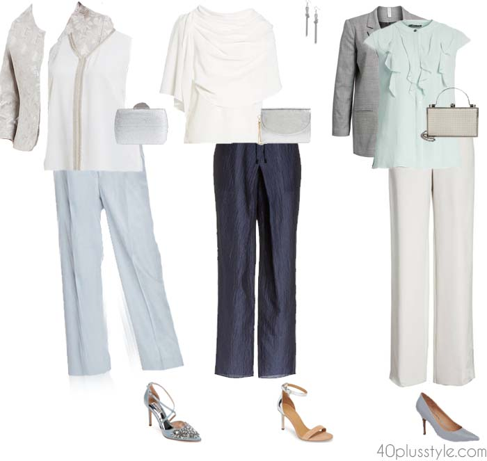 What to Wear as Mother of the Bride (or Groom): classic pants set | 40plusstyle.com
