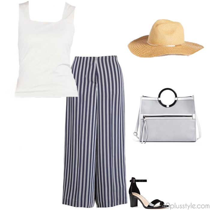 Striped pants | 40plusstyle.com