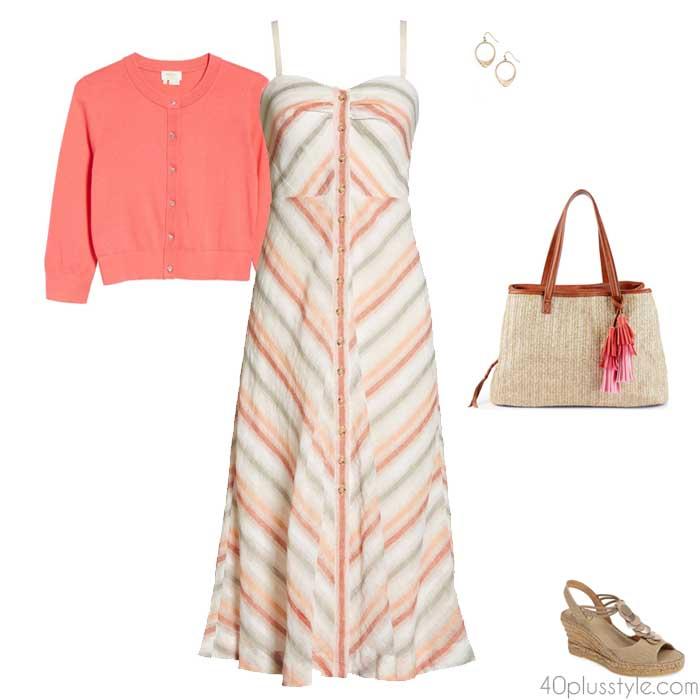 Low contrast stripes | 40plusstyle.com