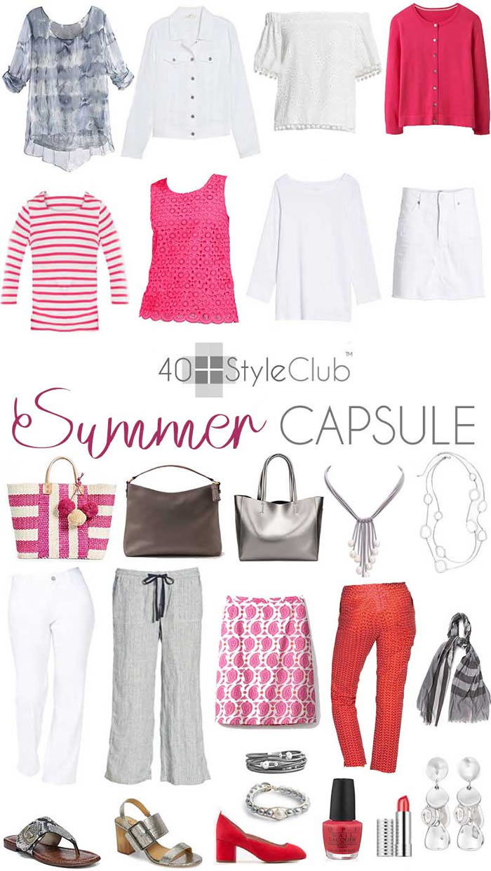 2018 summer capsule wardrobe for the 40+style club | 40plusstyle.com
