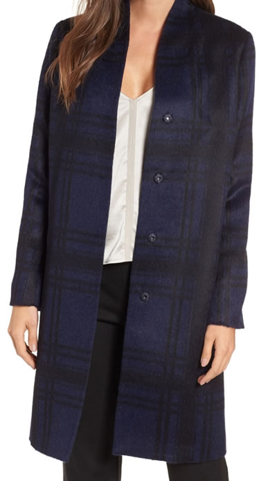 blue Eileen Fisher coat