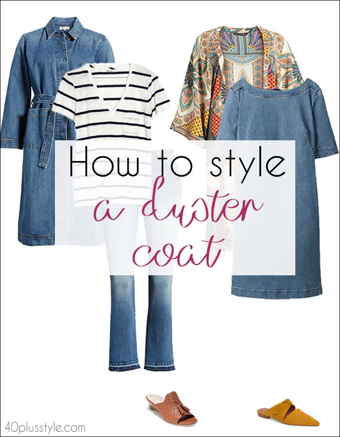 How to style a duster coat | 40plusstyle.com