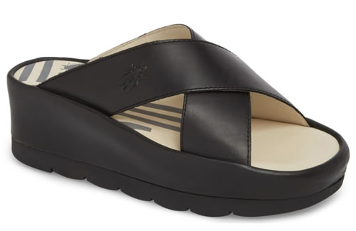 Fly London wedge sandals | 40plusstyle.com
