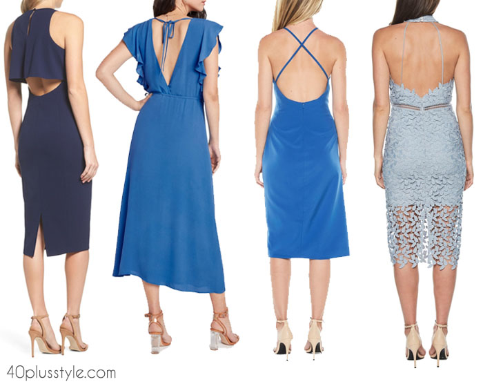 Stylish dresses that compliment your back | 40plusstyle.com