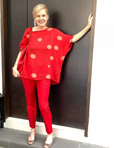 How to wear polkadots | 40plusstyle.com