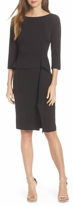 knee length dress with sleeves | 40plusstyle.com