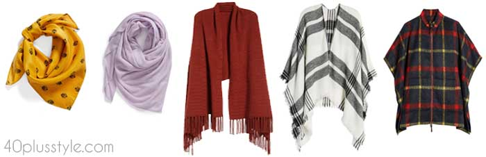 A cozy scarf for women over 40 | 40plusstyle.com