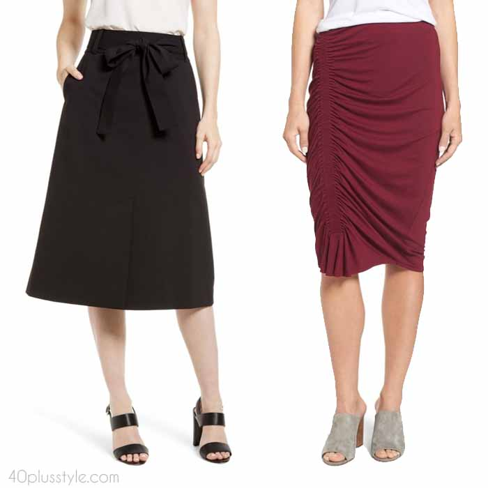 What is the best skirt for your body type? | 40plusstyle.com