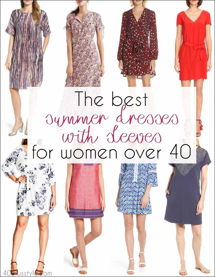 The best summer dresses with sleeves | 40plusstyle.com