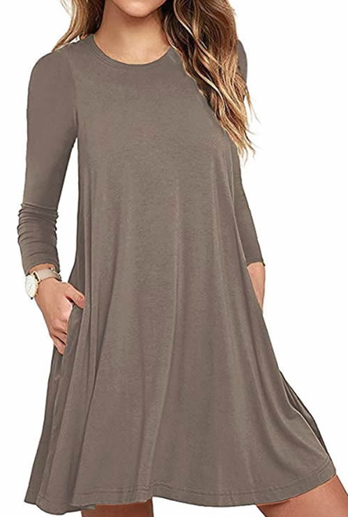 Tunic dress with sleeves | 40plusstyle.com