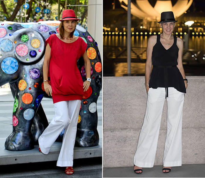 how to wear white pants   40plusstyle.com