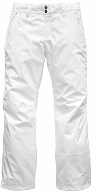 women's white ski pants | 40plusstyle.com