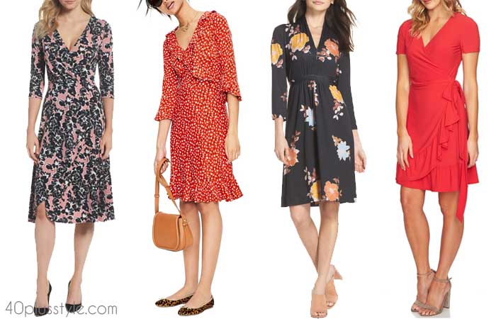 Wrap dress - The best summer dresses with sleeves | 40plusstyle.com