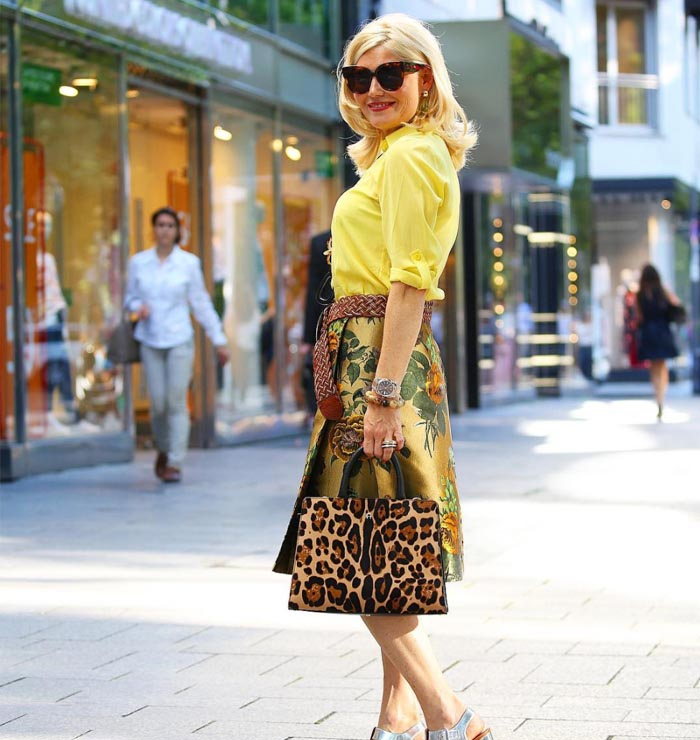 How to wear yellow   40plusstyle.com