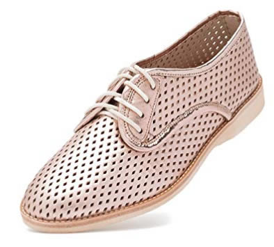 40101e76c7ab Rollie Women s Lightweight Derby Punch Perforated Lace-Up Flat Shoe