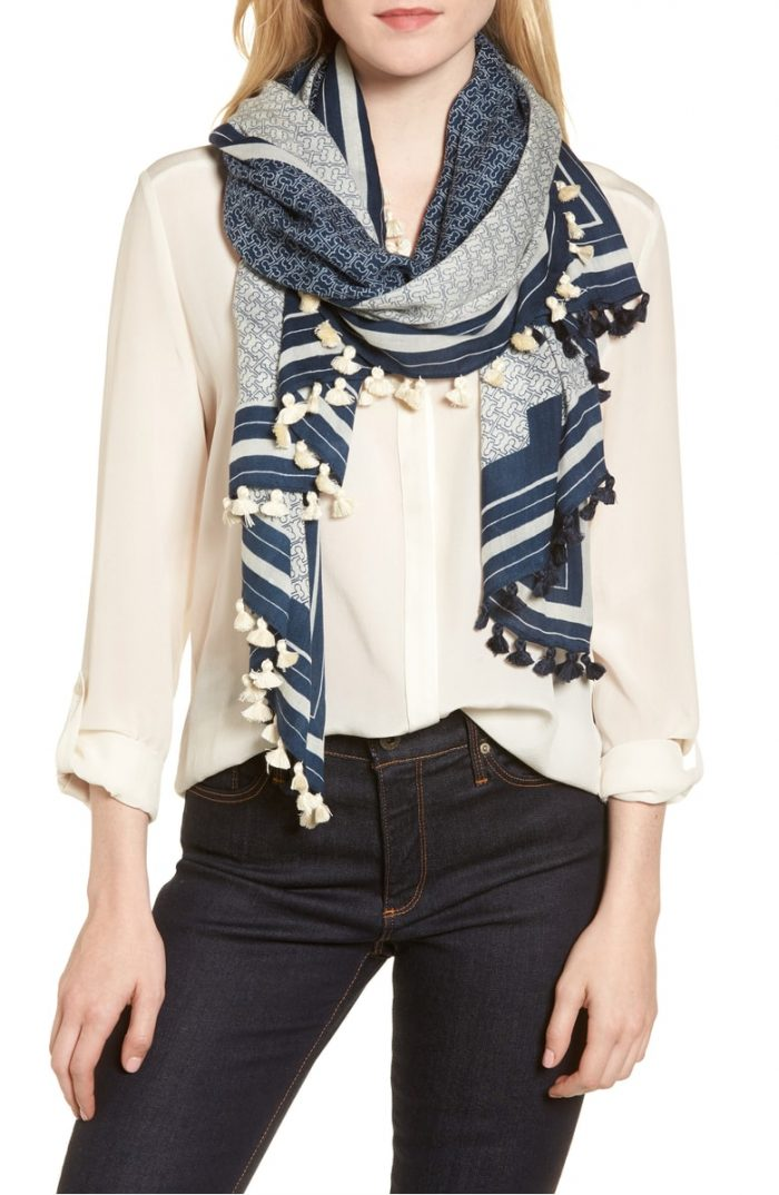 Scarves - 10 key pieces to make transitional dressing easy | 40plusstyle.com