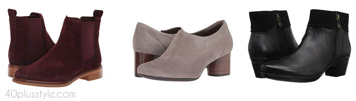 Clark arch support shoes and boots | 40plusstyle.com
