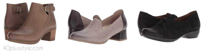Dansko arch support shoes and boots | 40plusstyle.com