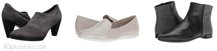 Ecco arch support shoes and boots | 40plusstyle.com
