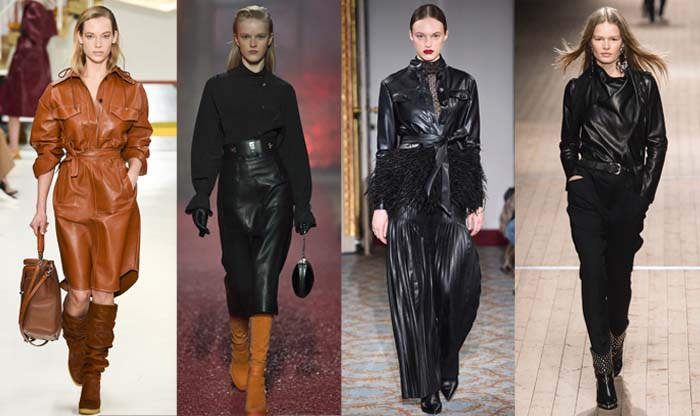 Chic leather pieces from skirts to tops - The best Fall 2018 trends for women over 40   40plusstyle.com