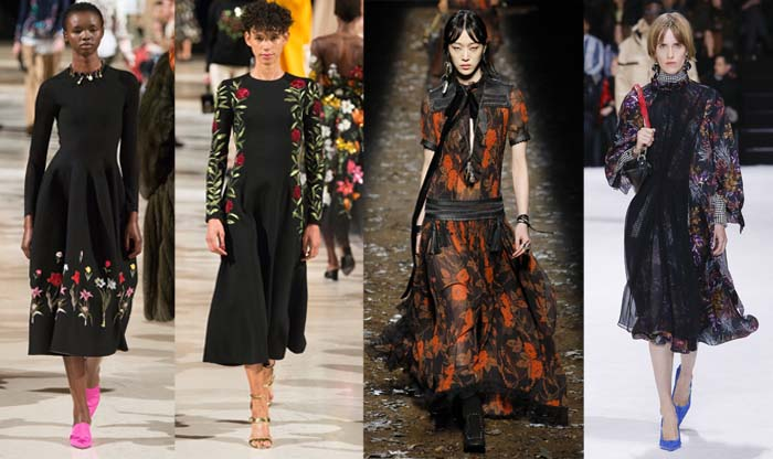 Dark Florals - The best Fall 2018 trends for women over 40 | 40plusstyle.com
