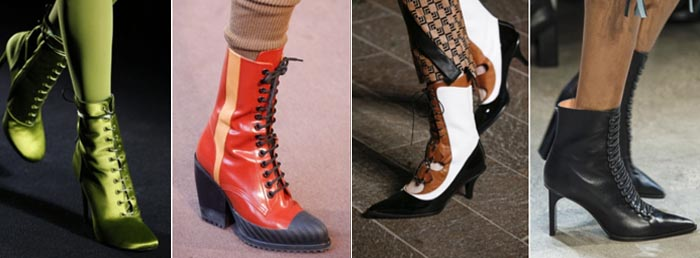 Lace up - 12 shoe trends for Fall 2018 | 40plusstyle.com