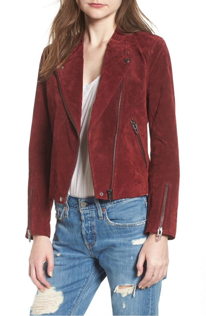 Fall fashion: Red Leather Jacket | 40plusstyle.com