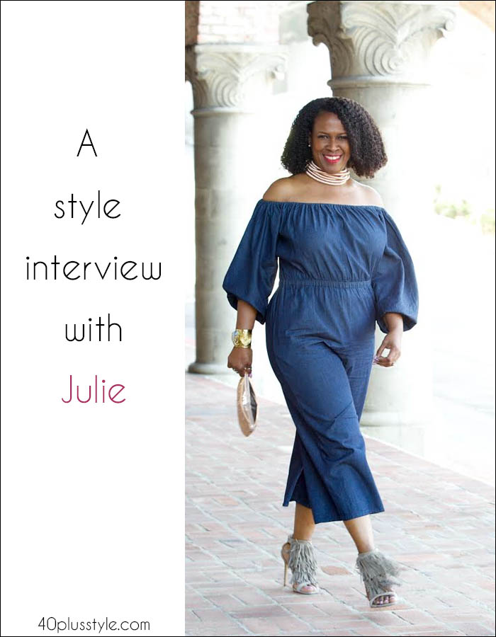 Vibrant and unexpected - A style interview with Julie Dionne Harbour | 40plusstyle.com