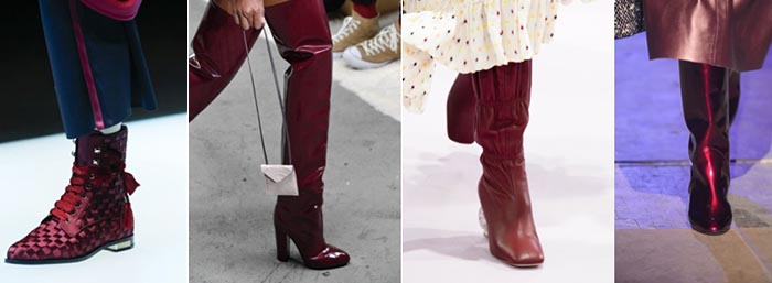 Burgundy boots - 12 shoe trends for Fall 2018 | 40plusstyle.com