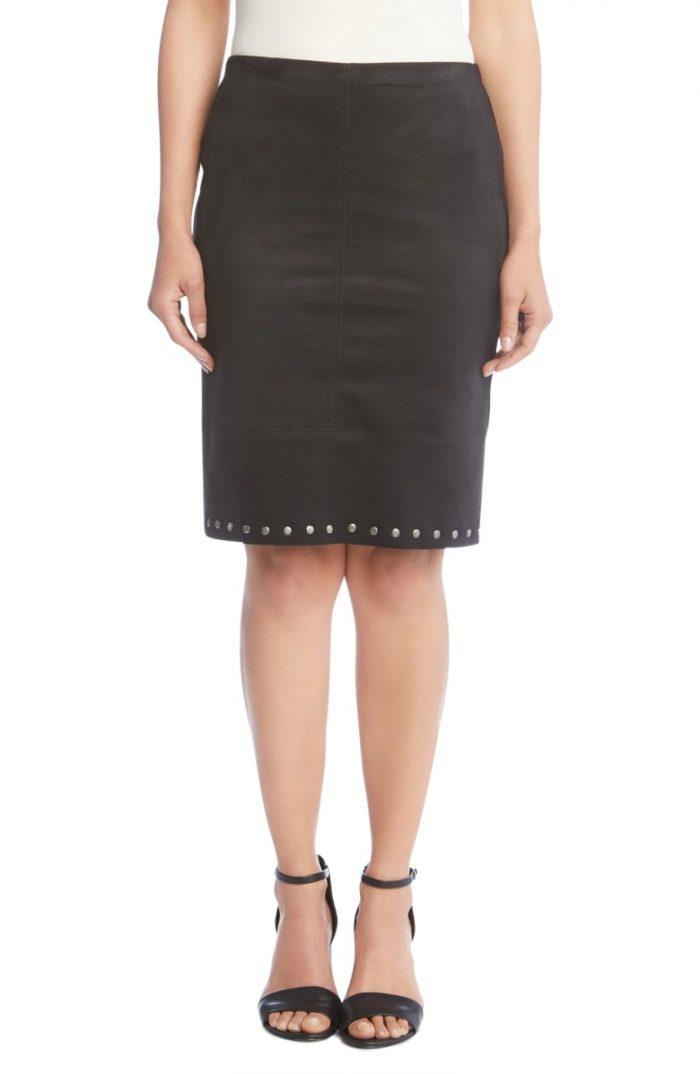 Fall fashion: Studded skirt | 40plusstyle.com