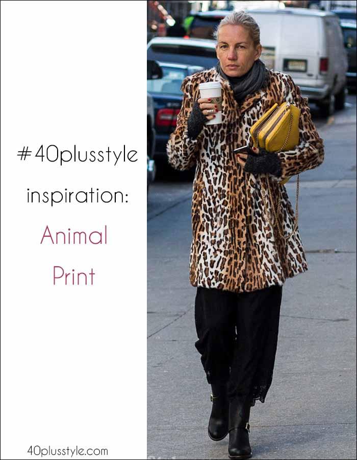#40plus inspiration: Ways to wear animal print | 40plusstyle.com