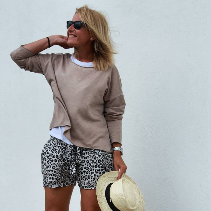 Casual animal print style | 40plusstyle.com