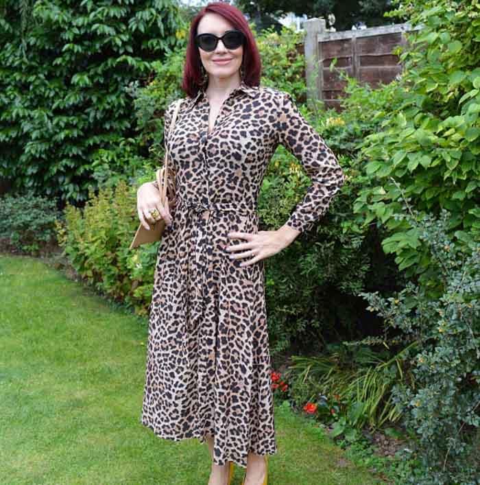 Animal print dress | 40plusstyle.com