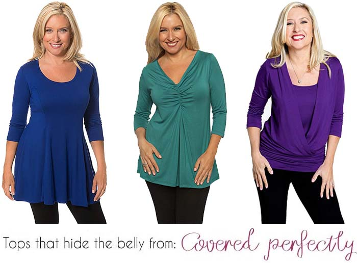 ways to hide your belly with the right clothes | 40plusstyle.com