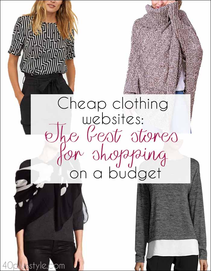 Cheap clothing websites: The best stores for shopping on a budget | 40plusstyle.com