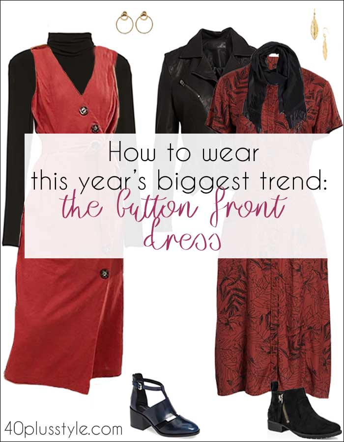 How to wear this year's biggest dress trend: The button front dress | 40plusstyle.com
