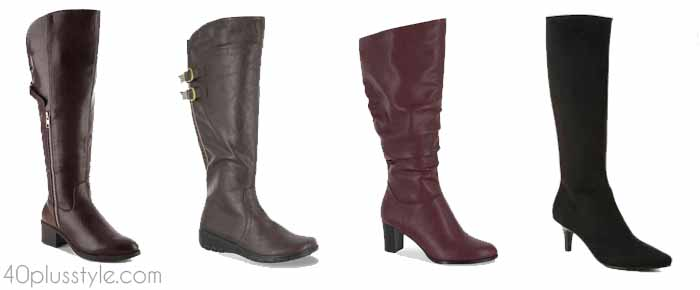 DSW shoes - The best wide calf boots for winter and fall | 40plusstyle.com