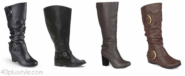 Kohl's - stylish wide calf boots | 40plusstyle.com