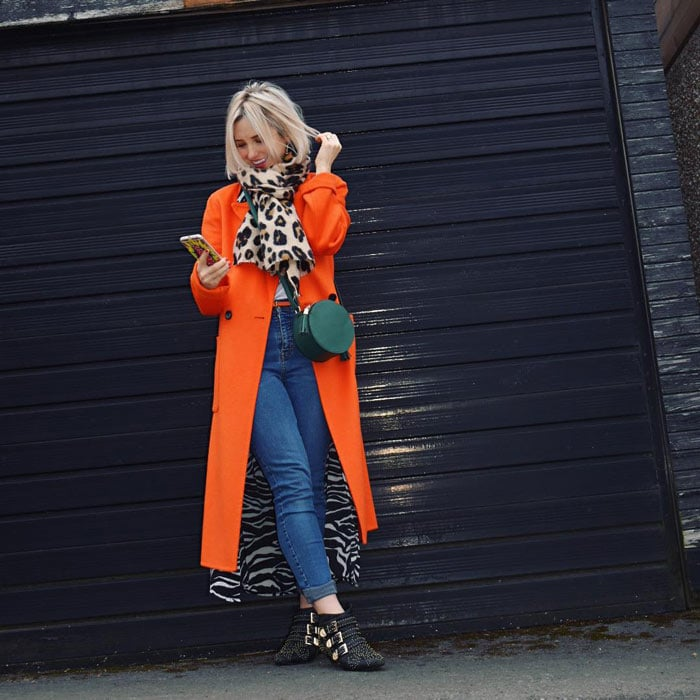 best winter coats for women - long orange coat | 40plusstyle.com