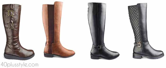 Simply Be - The best wide calf boots for winter and fall | 40plusstyle.com