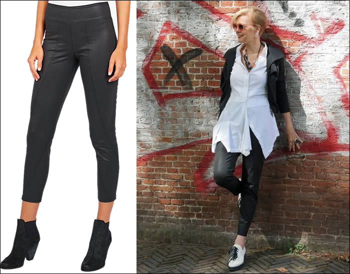Skinny pants that tuck the belly | fashion over 40 | 40plusstyle.com