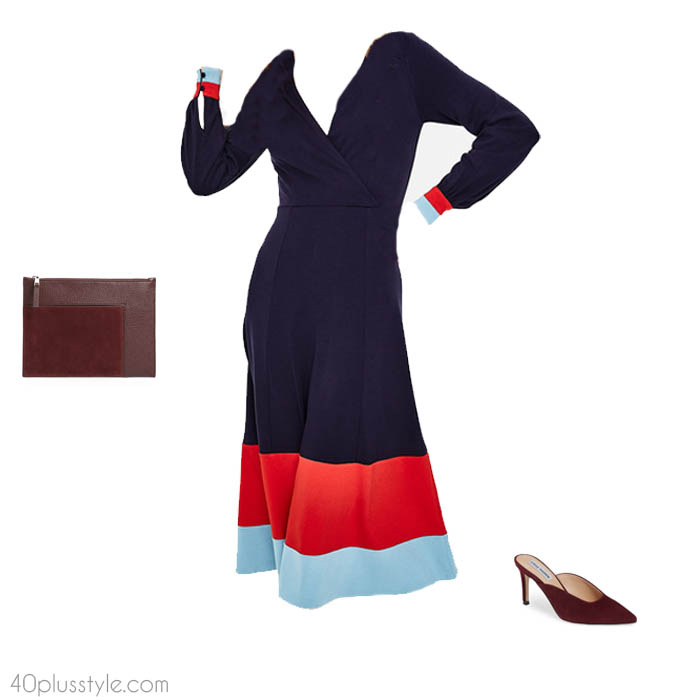 Jersey dress - How to dress like Victoria Beckham | 40plusstyle.com