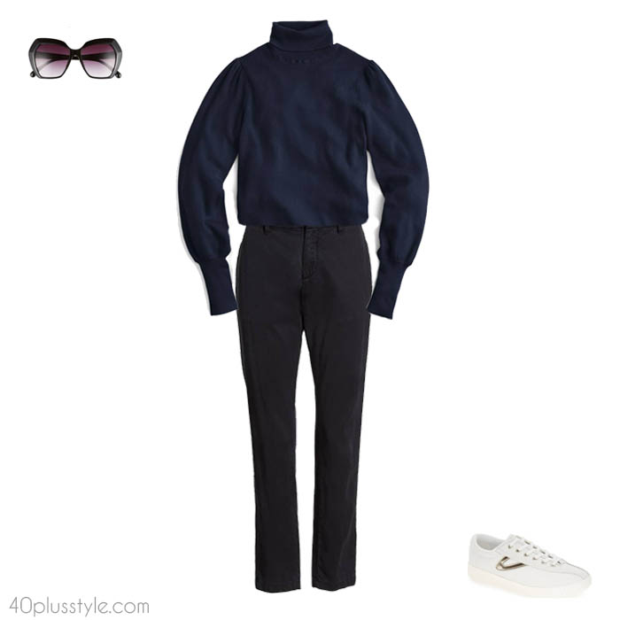 How to wear a turtleneck - How to dress like Victoria Beckham   40plusstyle.com