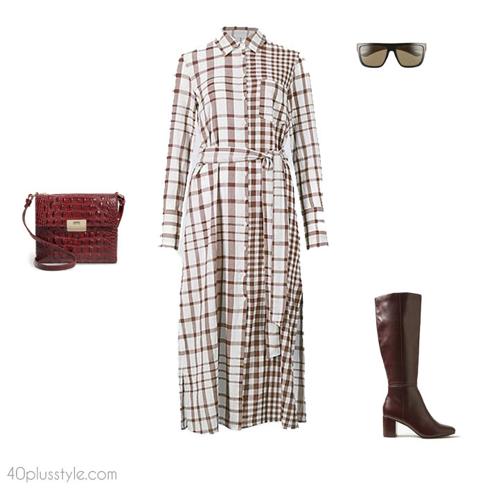 Plaid dress - How to dress like Victoria Beckham | 40plusstyle.com