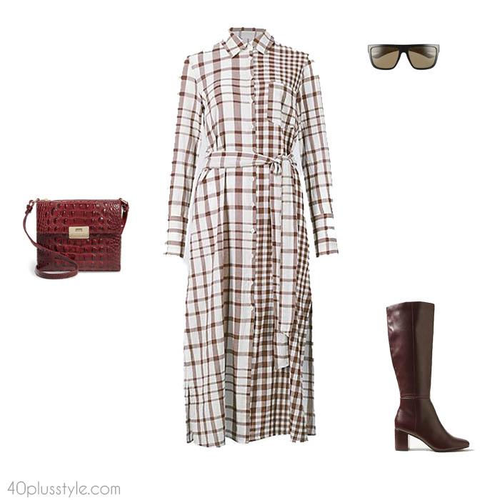 Plaid dress - How to dress like Victoria Beckham   40plusstyle.com