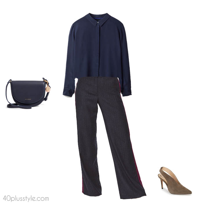Wide leg trousers for women over 40 - How to dress like Victoria Beckham   40plusstyle.com