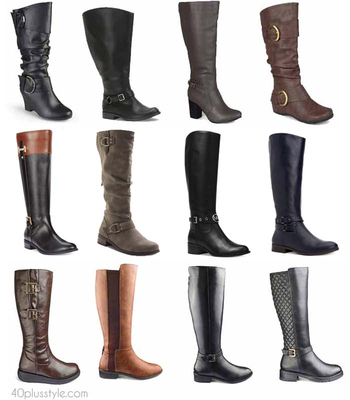 The best wide calf boots for winter and fall | 40plusstyle.com