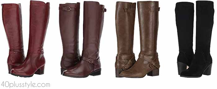 Chic wide calf boots | 40plusstyle.com