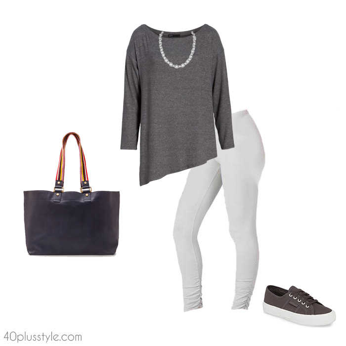 8608cb9d8e907 How to wear leggings over 40, 50, 60 and beyond. | 40plusstyle.com