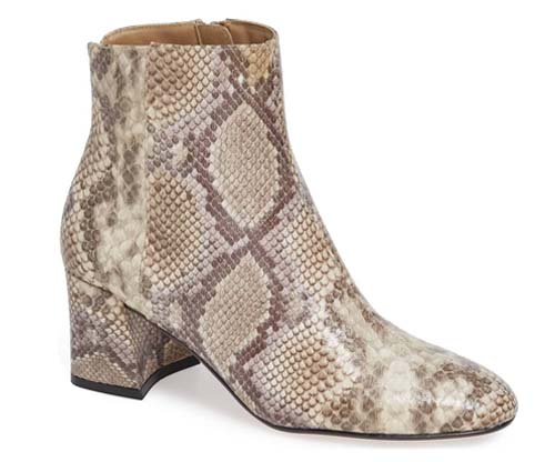 Snake print bootie - 10 of the best snake print pieces | 40plusstyle.com